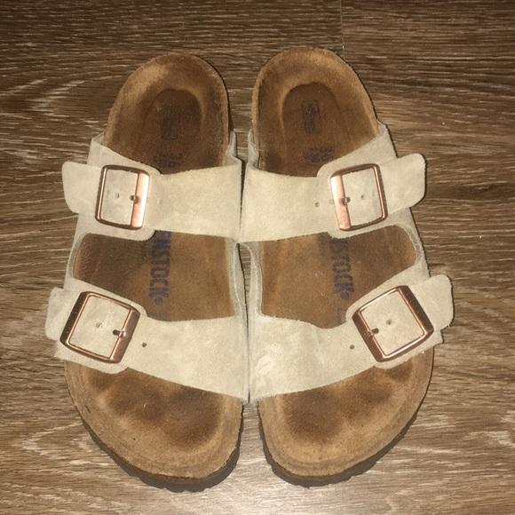 Birkenstock Arizona soft footbed tan sandals 36=5